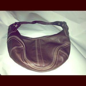 EUC leather Coach handbag